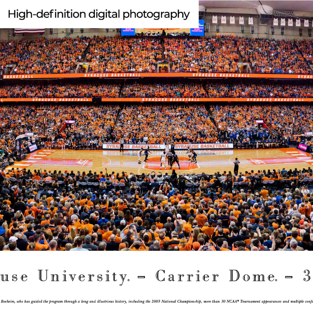 Syracuse Orange Basketball Panoramic Poster Carrier Dome