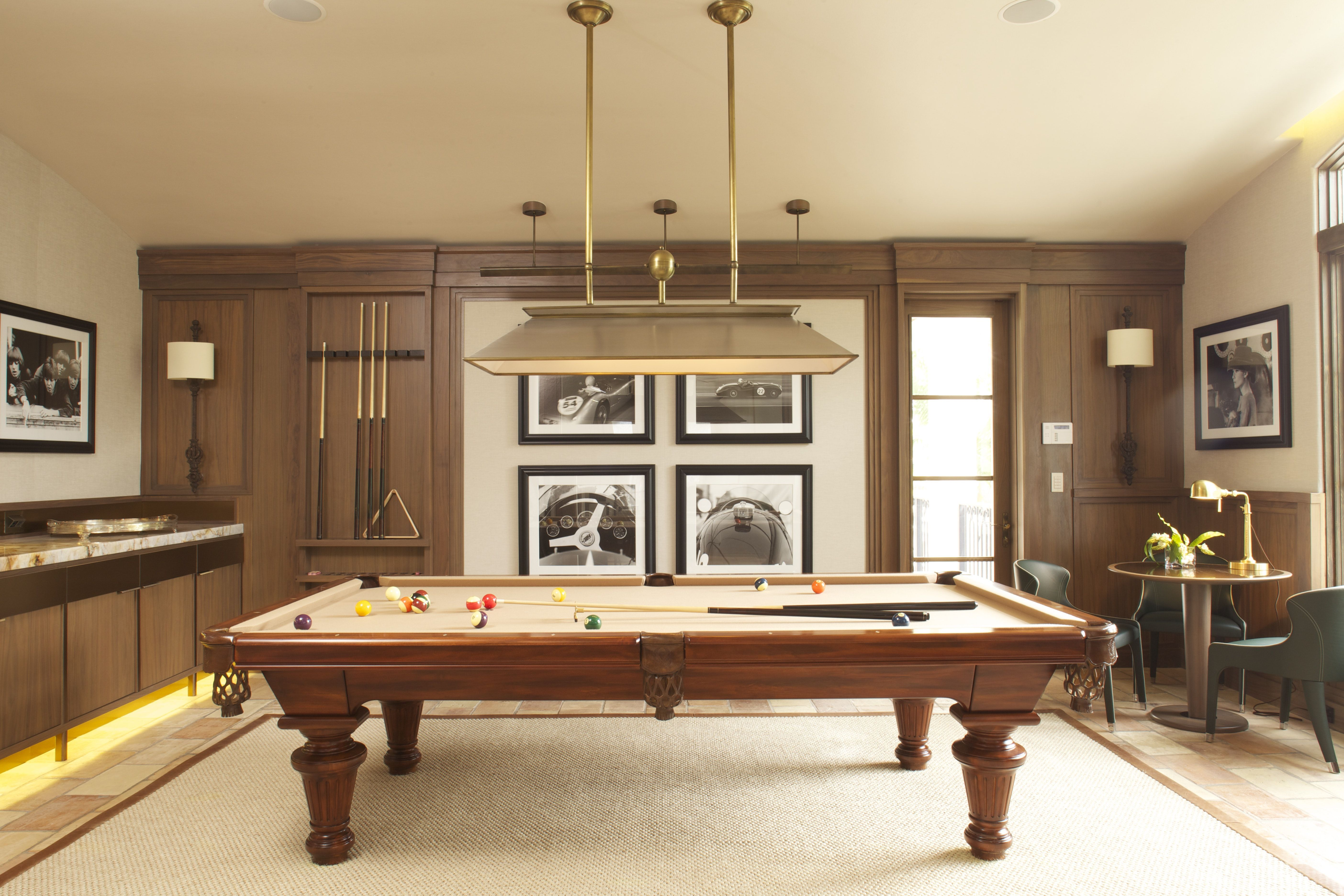 Miami Game Room Warm Muted Luxurious Materials Contribute To The