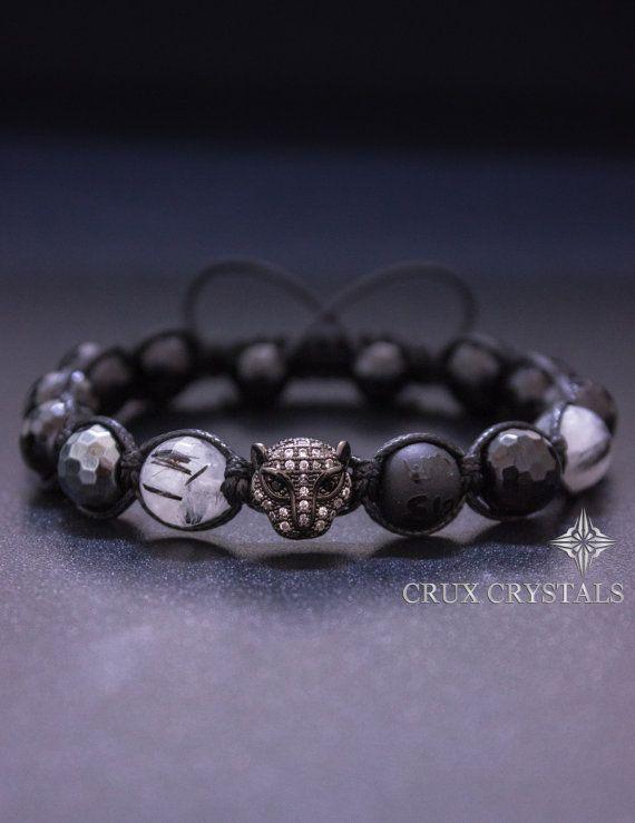 Black Onyx Bracelet-Pearl Bracelet-Silver Macrame Bracelet-Black Cord Bracelet-Shamballa Bracelet-Sterling Silver Ball-Boho Bracelet Stack