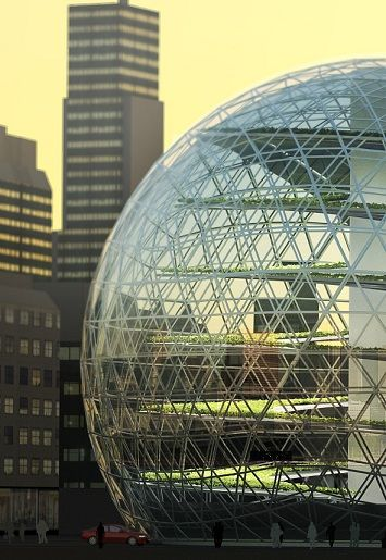 Whoa This Brings New Meaning To Urban Farming Glass Building Architecture Green House Design