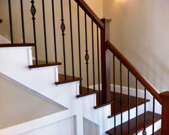 Home Design Decorating Remodeling Ideas Wrought Iron Stair Railing Stair Railing Makeover Wrought Iron Stairs