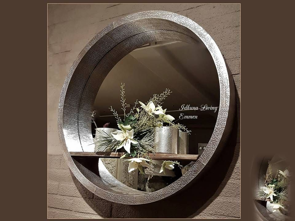 Spiegel Met Plankje : Wanddecoratie spiegel modern cm kleur antiek zilver hout