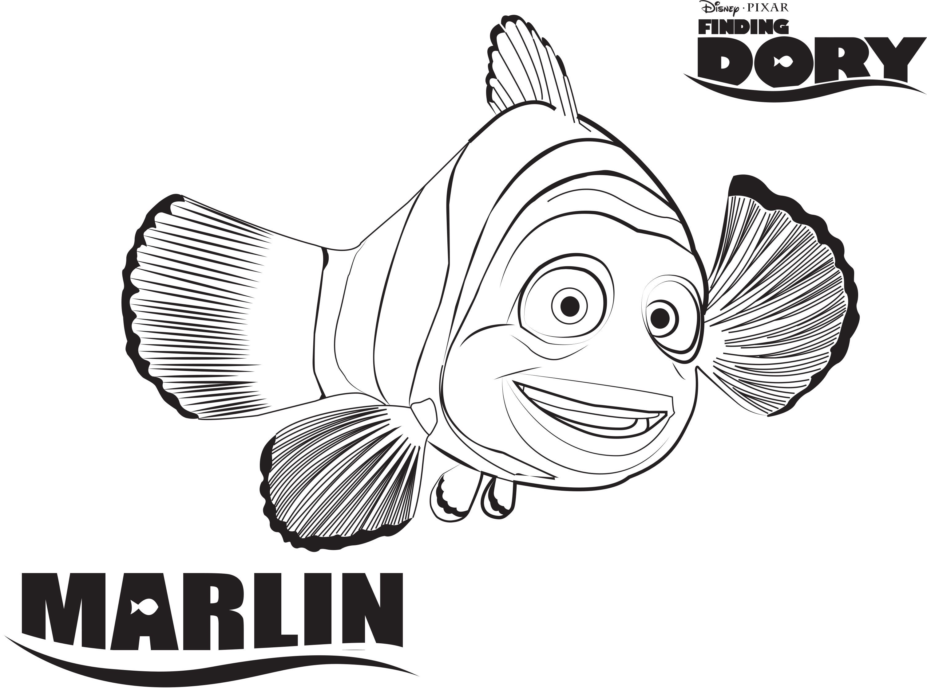 Finding Dory Coloring Pages | Simply Being Mommy | 2260x3015