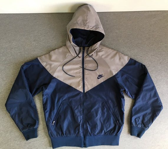 56ced361ec08 NIKE Jacket 80s 90s Vintage  RARE! Original Full Zip Hooded Lined ...