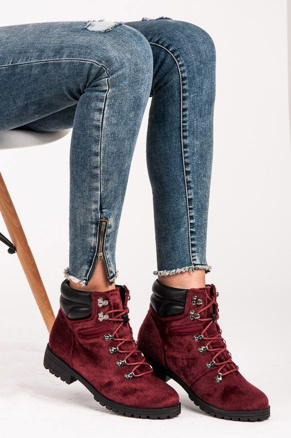 Futrzane Botki Odcienie Czerwieni Czasnabuty Pl Buty Damskie Meskie I Dzieciece Shoes Timberland Boots Top Sneakers