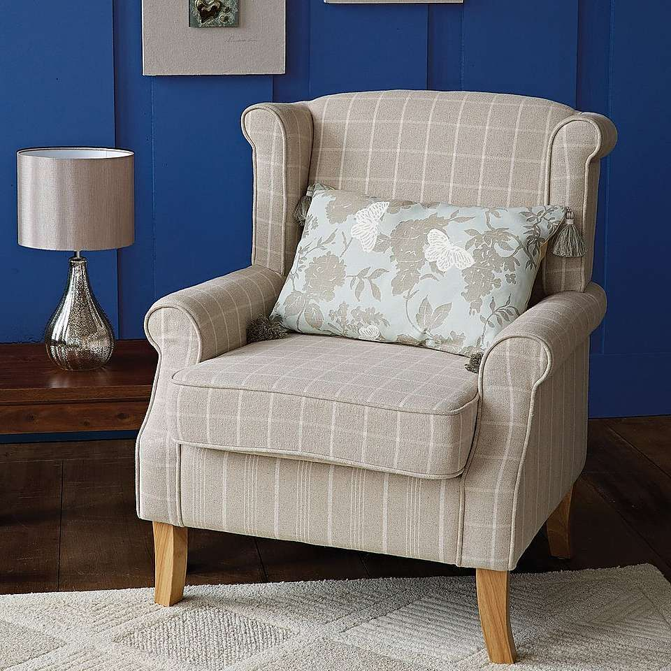 Natural Check Edinburgh Armchair Dunelm Dining Room  # Muebles Tipo Wimpy