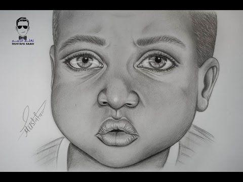 كيفية رسم بورتريه لرجل مع لحية خفيفة بالرصاص How To Draw Portrait Youtube Male Sketch Art Drawings