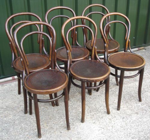 Thonet Bentwood Cafe Chairs Thonet cafe bistro bentwood chair