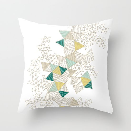 Love Triangles Throw Pillow // Wit & Whistle on Society6