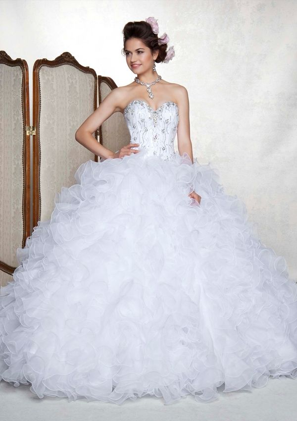 Gorgeous White Quinceanera Dress With Sequins
