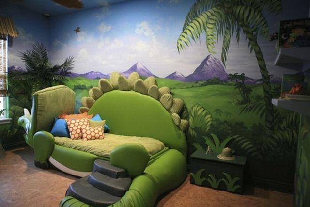 Decoracion dormitorio infantil tematica dinosaurio 4 habitaciones infantiles dormitorios - Habitaciones tematicas para ninos ...