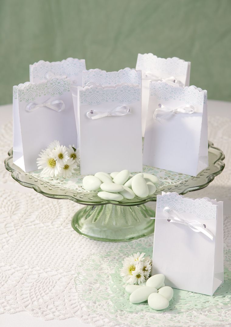 Lace Mint-Favour Bags #talkingtablesDesigners of Stylish Partyware ...