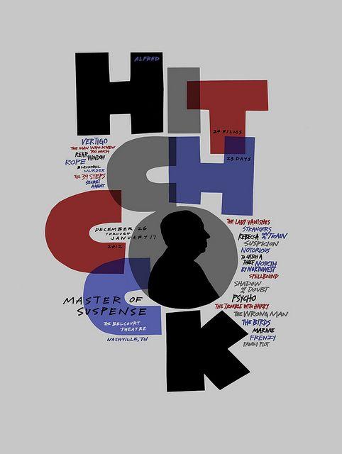 HITCHCOCK screenprint by Sam's Myth, via Flickr