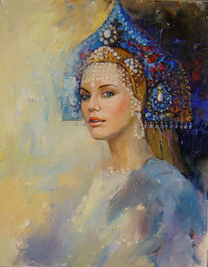Russian Art Work Image Russian Princess Painting Russian Princess Fine Art Print