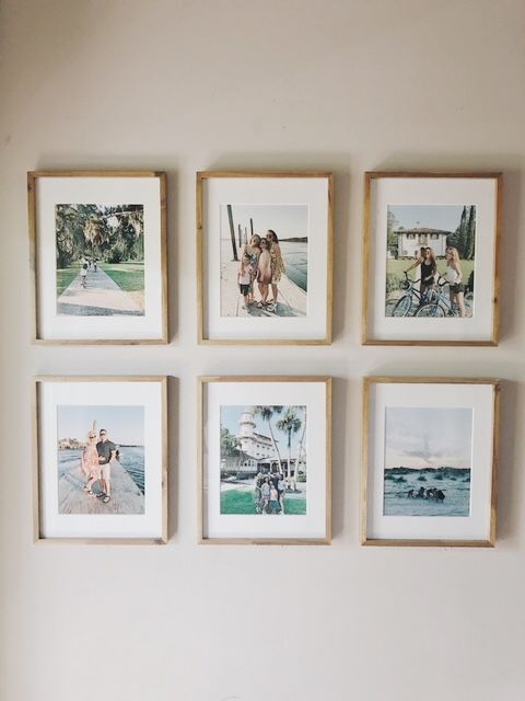 5 steps to make a symmetrical gallery wall | Detailed, step by step guide on how to create a family photo gallery wall.   #DIY #gallerywall #familyphotos