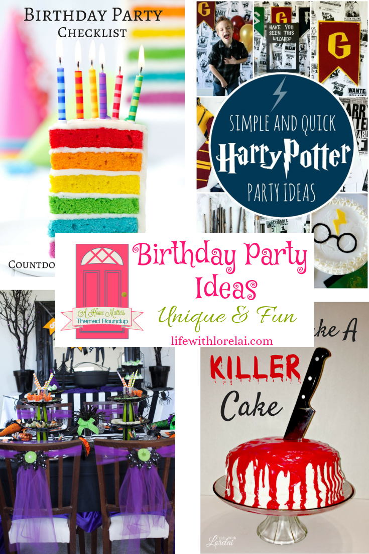 Birthday Party Ideas Unique And Fun Hm 245 With Images