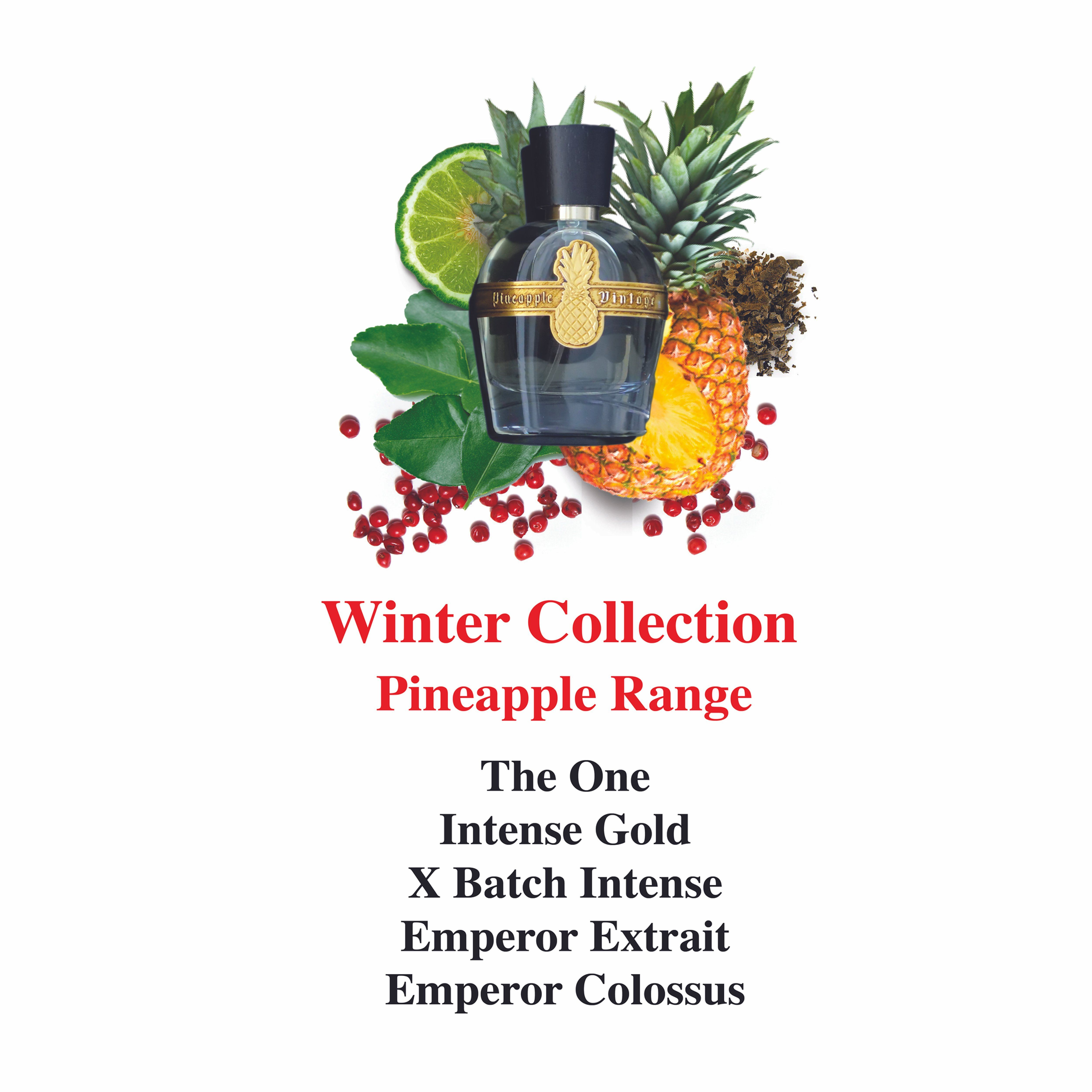 Set 1 Winter Collection Pineapple Range Limited Edition Sample Sets Premium Fragrances Parfums Vintage Winter Collection Pineapple Vintage Fun To Be One