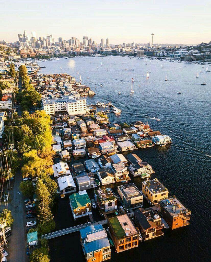 Houseboats Lake Union Seattle In 2019 Sleepless In