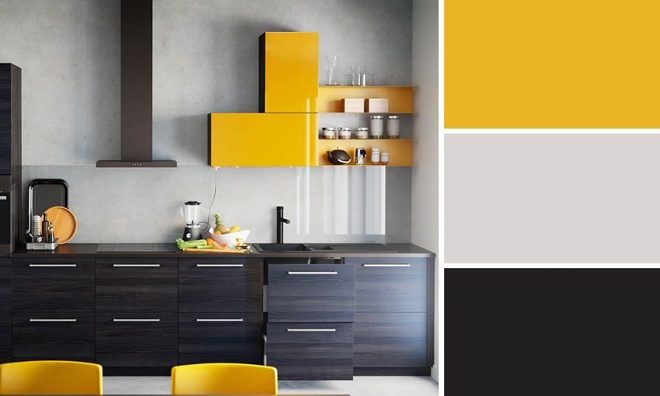 Quelles Couleurs Se Marient Avec Le Jaune Cuisine Noir Ikea - Meuble cuisine jaune ikea pour idees de deco de cuisine