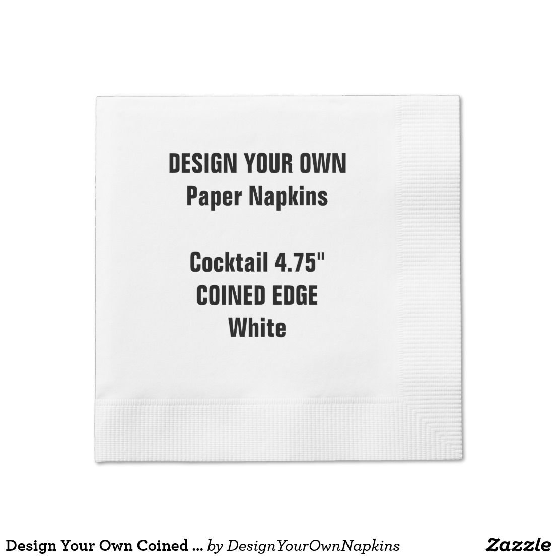 design your own coined edge cocktail paper napkins