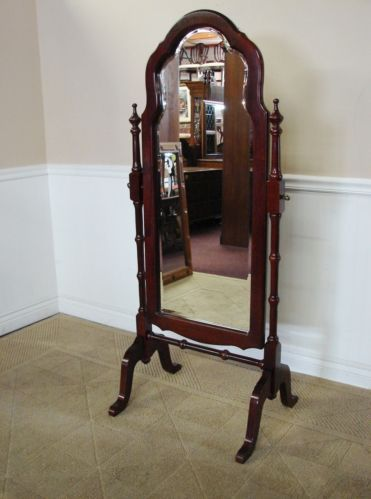 Jamestown sterling cheval mirror, cherry floor mirror, swivel ...
