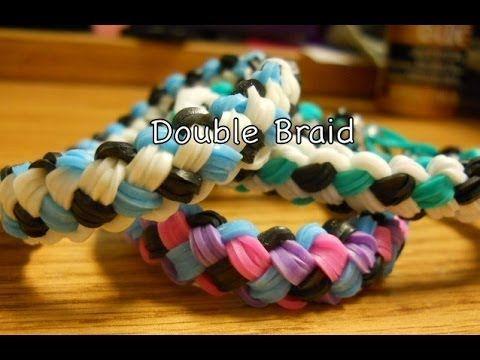 Double Braid Rainbow Loom Tutorial One Loom Youtube