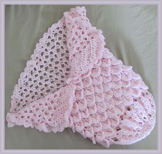 Sweet Princess Cocoon-ghan Crochet Pattern - FREE! (Uses Crocodile ...