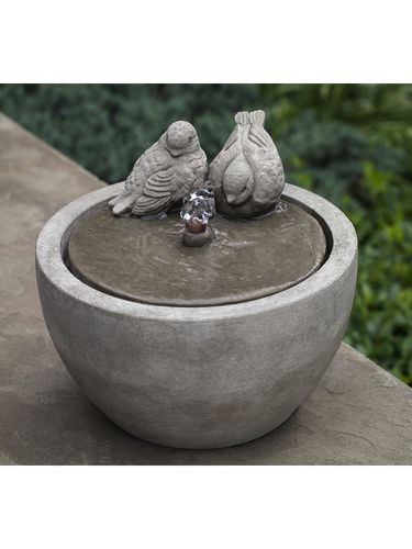 Tabletop Fountain: Campania International: Cast Stone Small Birds