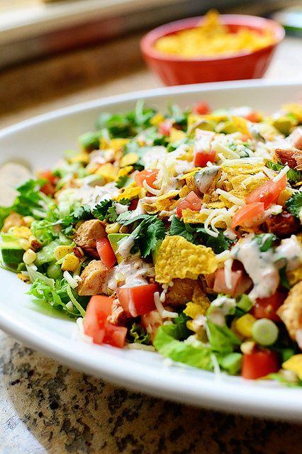 Chicken Taco Salad #tacosalad