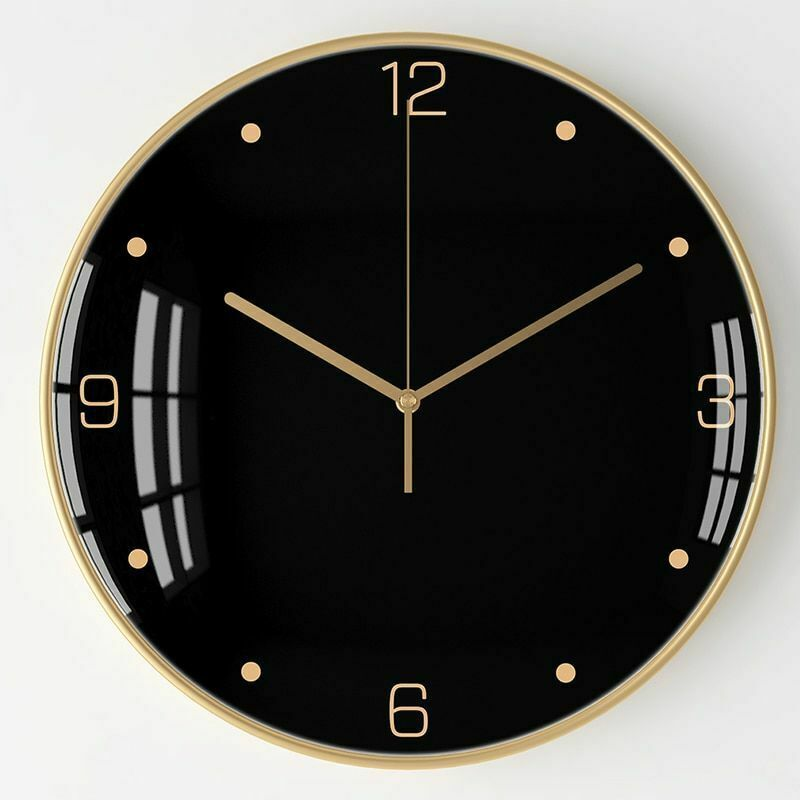 Nordic Large Wall Clock Metal Luxury Black Silent Clocks Wall Home Simple Living Clock Ideas Of Clock Clock Nordic L In 2020 Wall Clock Large Wall Clock Clock