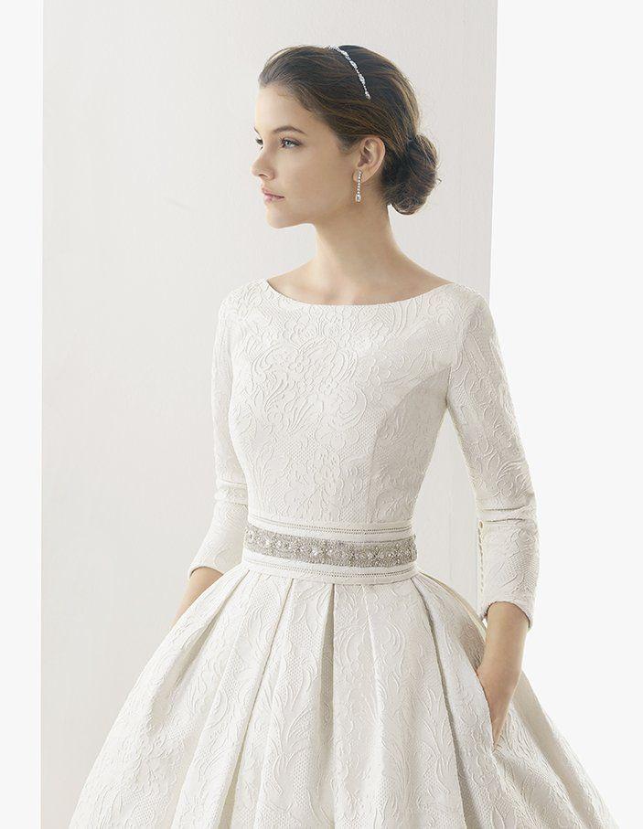 wedding dress with sleeve | Gift | Pinterest | Vestidos de novia, De ...
