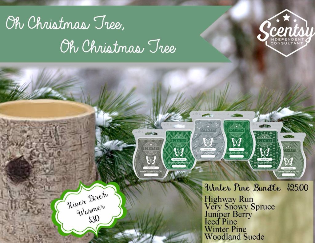 Scentsy River Birch Warmer and Winter Pine Bundle. The ...