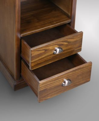 Yu Shan Lincoln Nightstand With Concealed Compartment Concealment