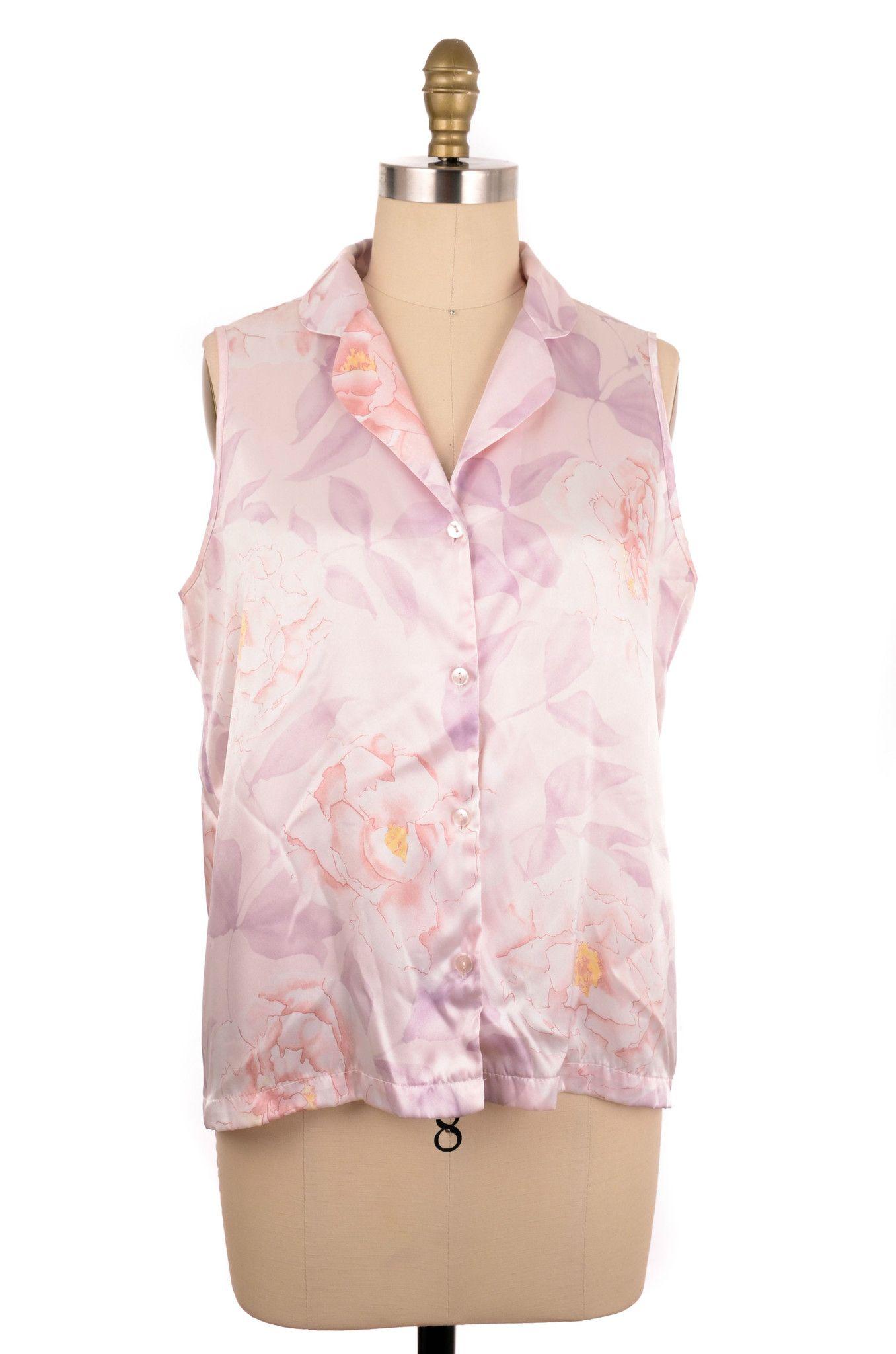 Jones New York Flower Print Blouse Size XL #fashion #style