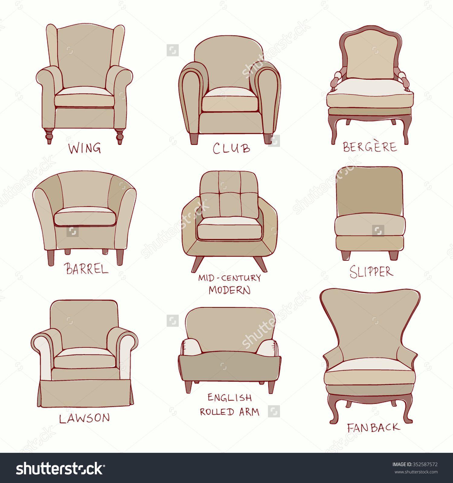 Armchair Styles | Simple chair design, Chair style ...