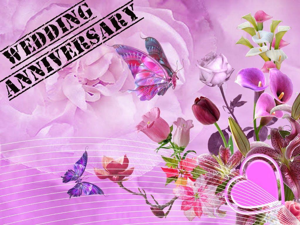Purple happy wedding anniversary message marriage anniversary