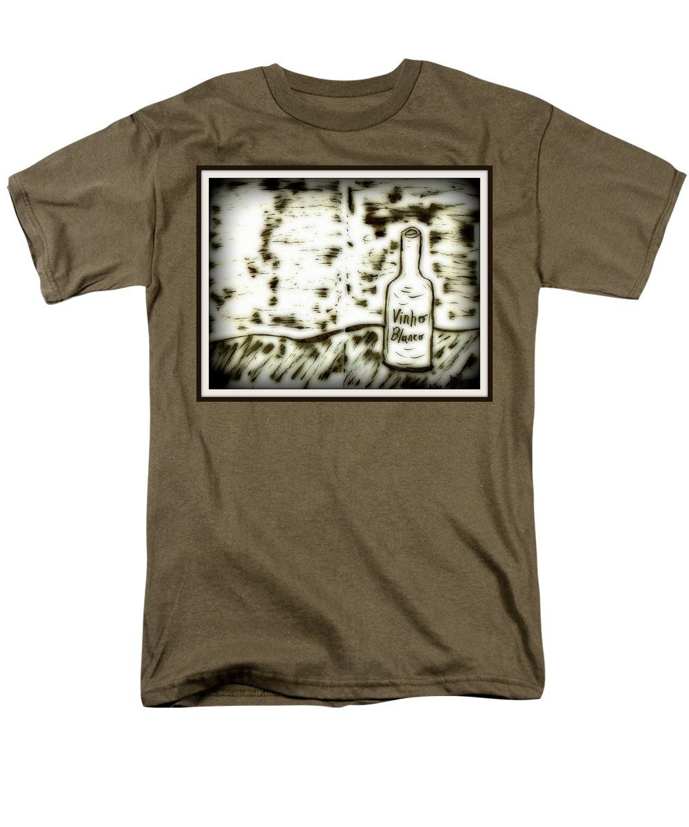 Ink Men's T-Shirt (Regular Fit) featuring the drawing Stranger Lands 2 by Mario Perron http://1-mario-perron.pixels.com/products/stranger-lands-2-mario-perron-adult-tshirt.html