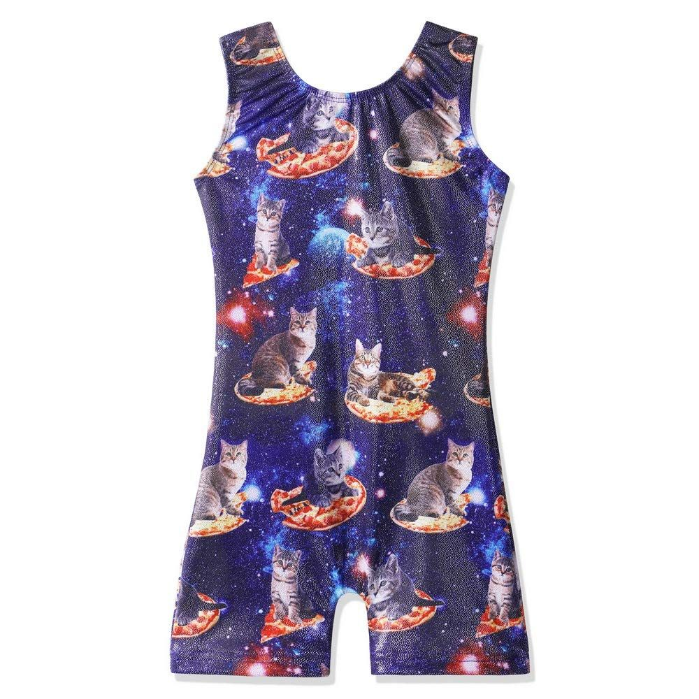 TFJH E Gymnastics Leotard with Shorts for Little Girls Dancing Biketard One-Piece