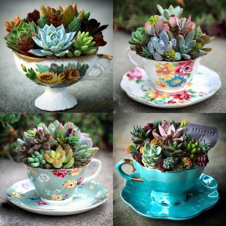 Photo of DIY tekrukeplanter kan være en uformell skjønnhet for plenen eller bordet ditt – CraftsPost