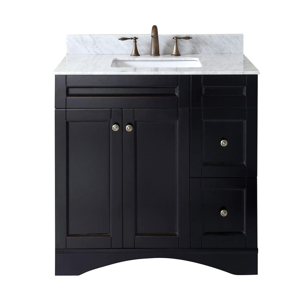 Virtu Usa Elise 36 In W Bath Vanity In Espresso With Marble