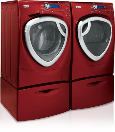 Ge Profile Frontload Washer And Dryer Digital Trends Washer And Dryer Red Washer And Dryer Washer Repair