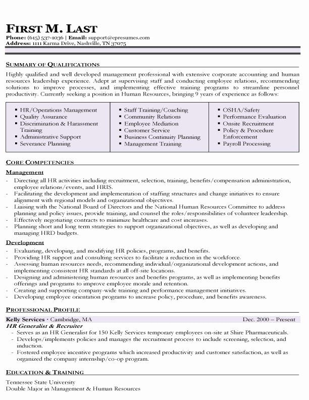 Human Resources assistant Resume Best Of Resume Samples