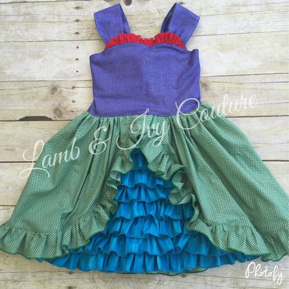 Little Mermaid Inspiried Ruffle Over The Top by LambandIvyCouture