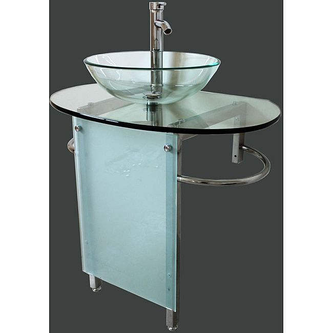 Kokols 30 Inch Vessel Sink Pedestal Bathroom Vanity 30 Inch Clear Size Single Vanities