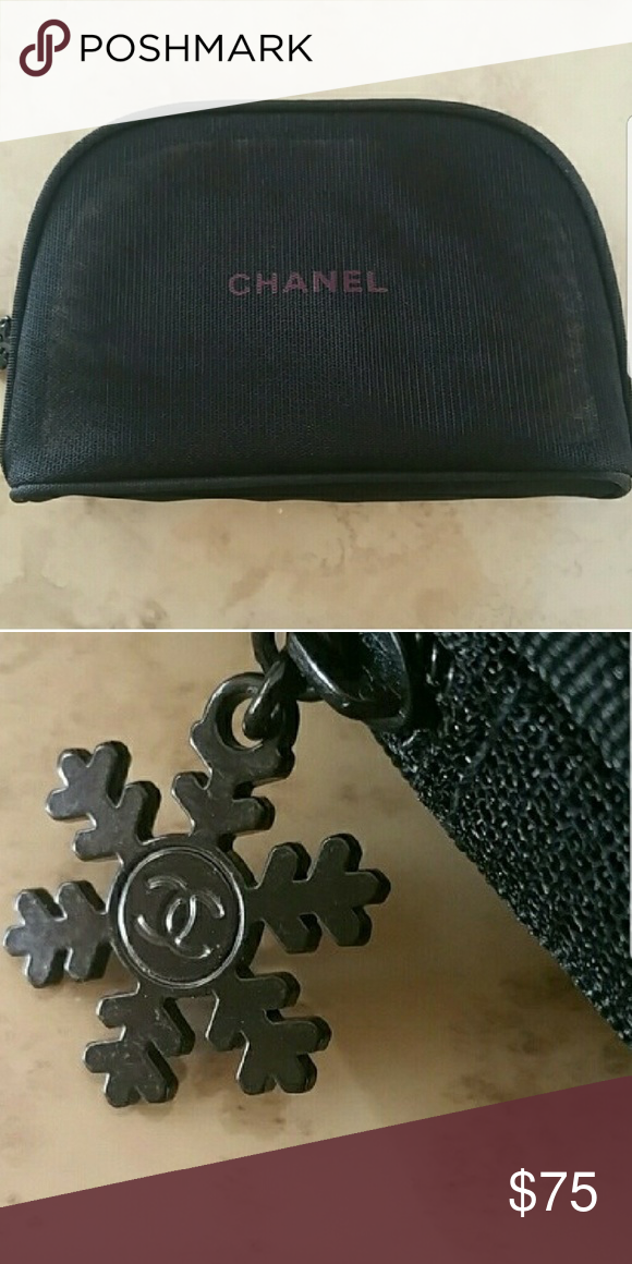 48e4d1eac01e Authentic Chanel Makeup Bag NWOT Pristine condition. Never used. Limited  edition. Black mesh. Zipper closure CHANEL Bags Cosmetic Bags & Cases