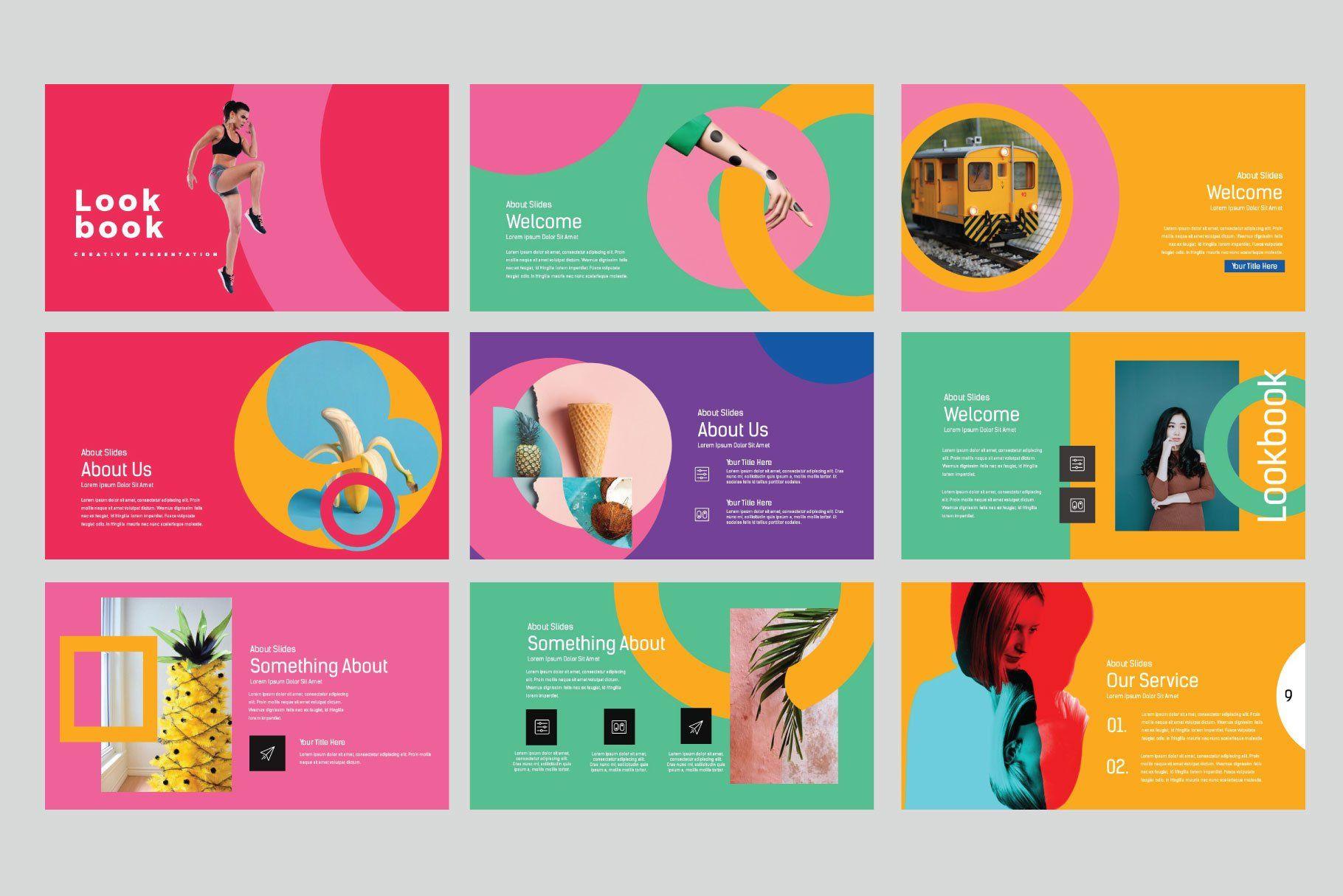 Lookbook Pastel Powerpoint (488976) | Powerpoint | Design Bundles