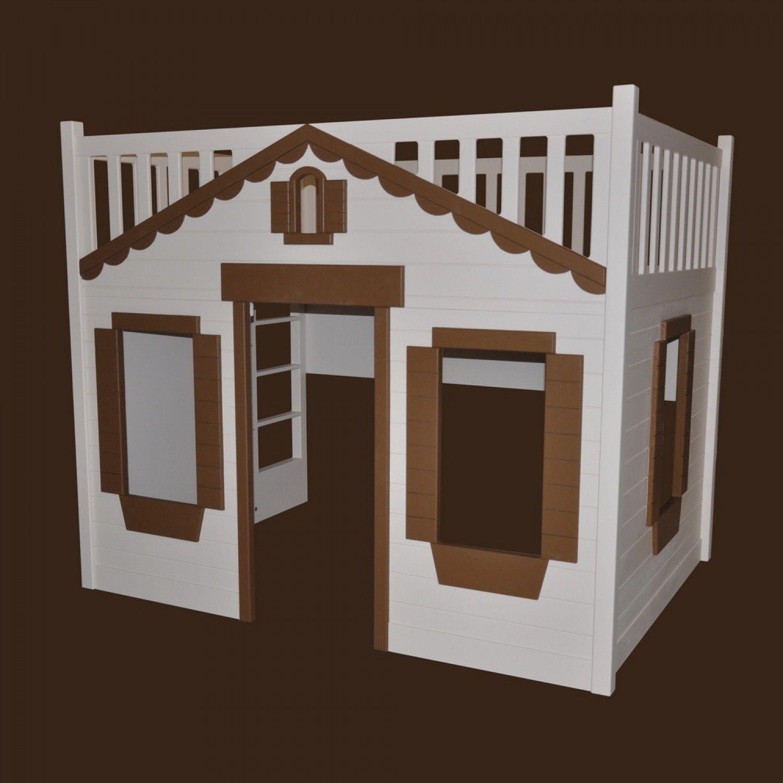 Treehouse loft bed with slide  Mindy Cottage Bunk Bed for Children  Decor  Pinterest  Bunk bed