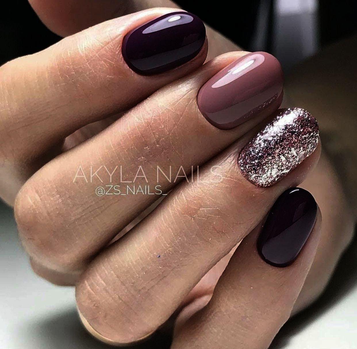 Home Blend Of Bites Nails Burgundy Nails Mauve Nails
