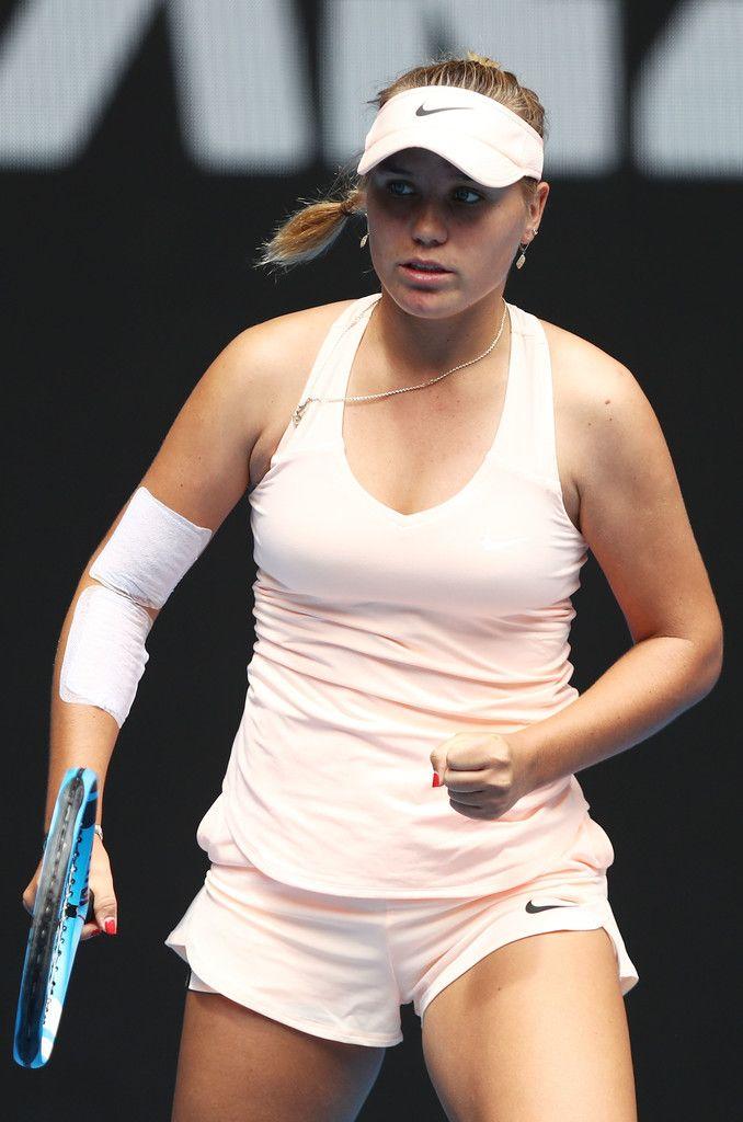 Sofia Kenin Photos Photos 2018 Australian Open Day 1 Womens Shorts White Shorts Fashion