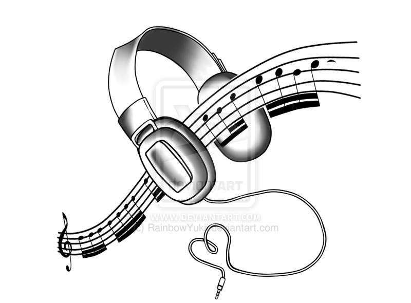 headphones tattoo design by on deviantart tattoos piercings. Black Bedroom Furniture Sets. Home Design Ideas